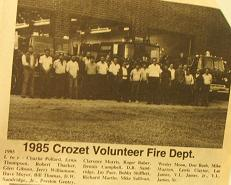 Crozet Fire Department 1985
